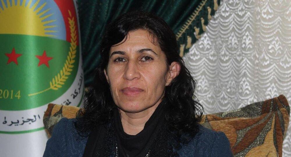 Rojava ve Kuzey Suriye Kurucu Meclisi Demokratik Federal Sistemi Eş Başkanı Hediye Yusuf