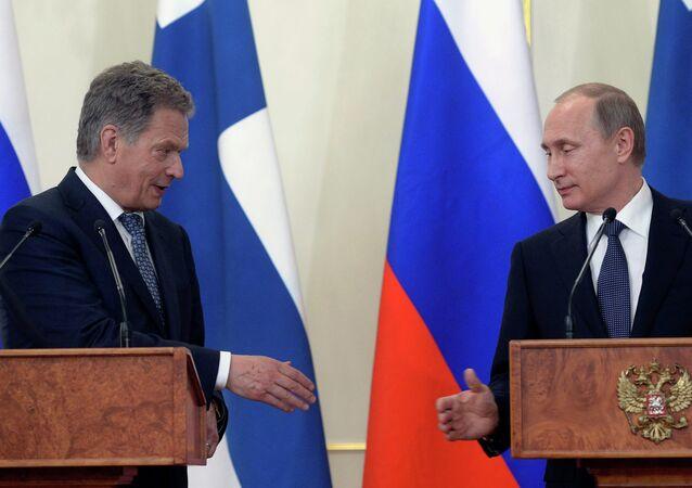 Rusya Devlet Başkanı Vladimir Putin ve Finlandiya Cumhurbaşkanı Sauli Niinistö