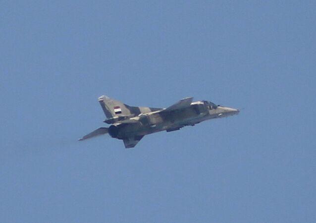 Suriye ordusuna ait bir MiG-23