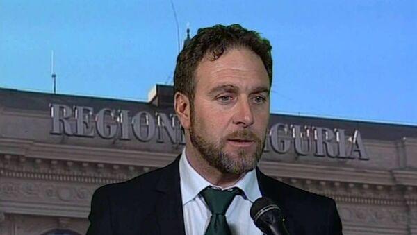 İtalya'nın Ligurya bölgesinin yerel parlamentosunun Kuzey Ligi partili milletvekili Alessandro Piana - Sputnik Türkiye