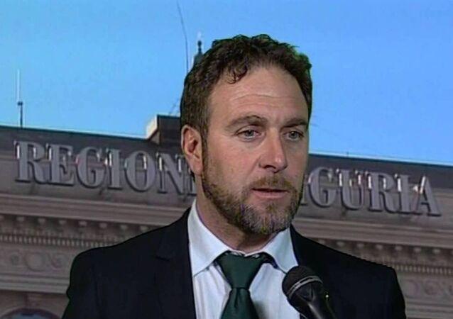 İtalya'nın Ligurya bölgesinin yerel parlamentosunun Kuzey Ligi partili milletvekili Alessandro Piana