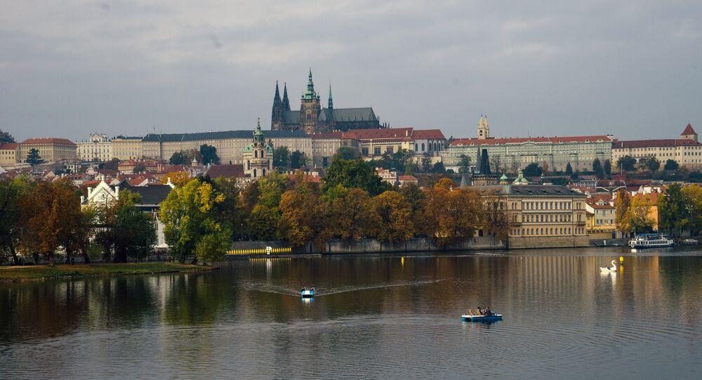 Prag'daki Kampa adasından bir görünüm