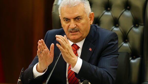 Başbakan Binali Yıldırım, Çankaya Köşkü'nde Bakanlar Kurulu toplantısının ardından gazetecilere açıklamalarda bulundu. - Sputnik Türkiye