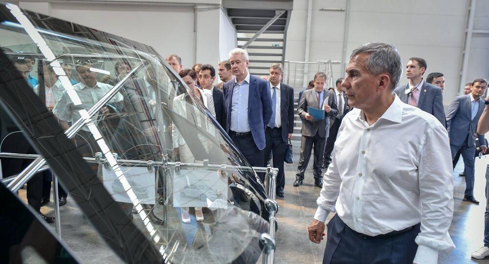 Tataristan Cumhurbaşkanı ve Moskova Belediye Başkanı, Türk fabrikasını ziyaret etti