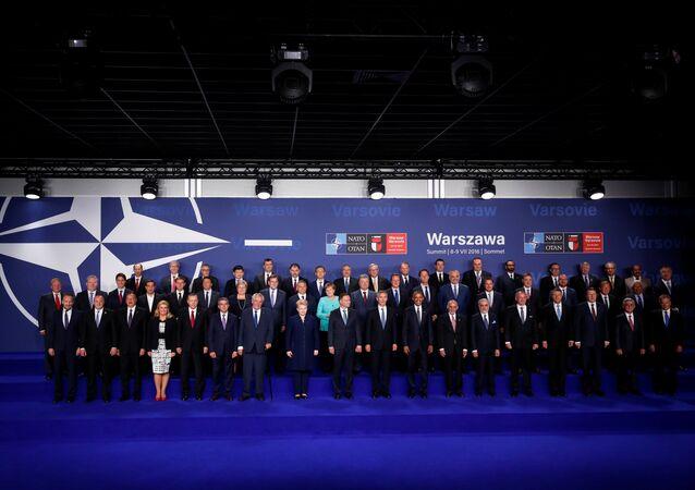 Polonya'nın başkenti Varşova'da yapılan NATO Liderler Zirvesi aile fotoğrafı