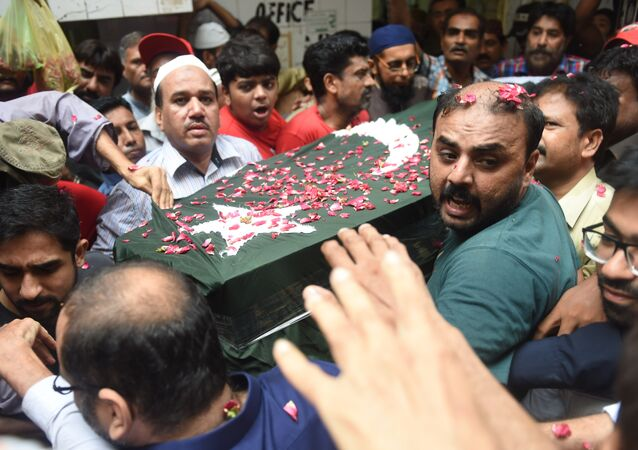 Abdulsettar Edhi'nin cenaze töreni