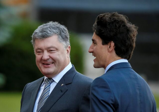 Pyotr Poroşenko - Justin Trudeau