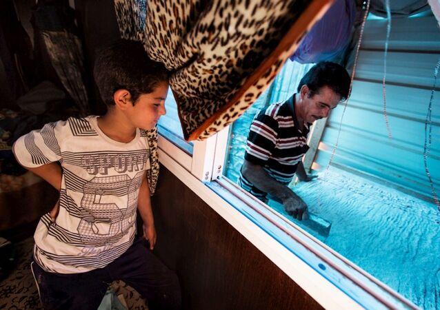 Za'atari kampında yaşayan Suriyeli raha ustası Abu Rabee