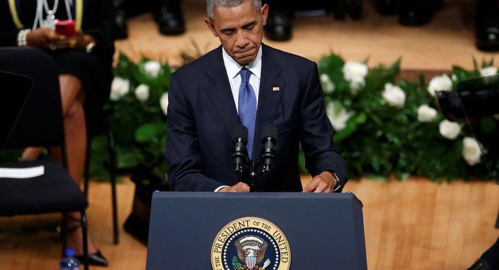 ABD Başkanı Barack Obama, Dallas'ta hayatını kaybeden polis memurları için düzenlenen törene katıldı.
