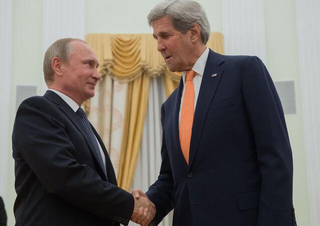 Rusya Devlet Başkanı Vladimir Putin - ABD Dışişleri Bakanı John Kerry