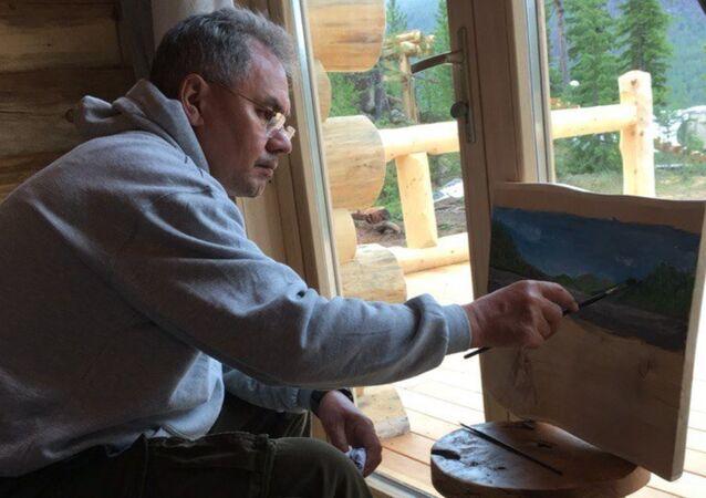 Rusya Savunma Bakanı Sergey Şoygu'nun ressam ve resim tutkunu olduğu ortaya çıktı.