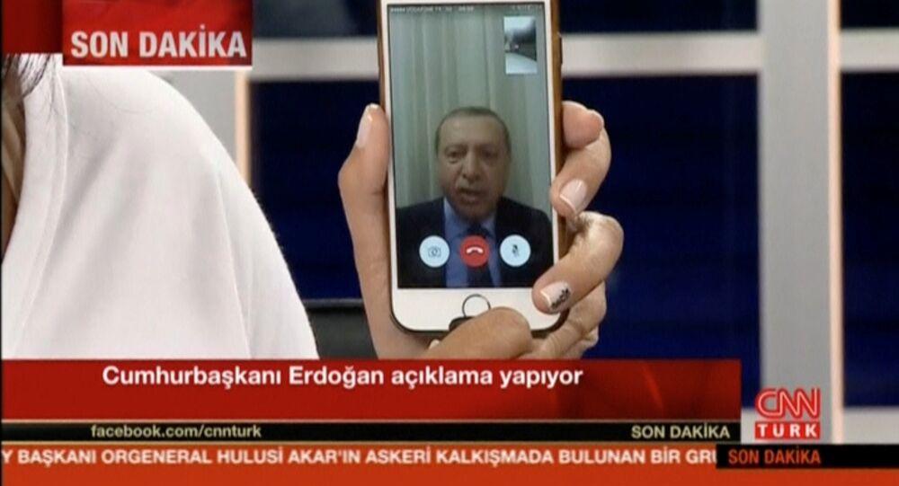 Recep Tayyip Erdoğan/ Darbe girişimi / CNN Türk - Facetime