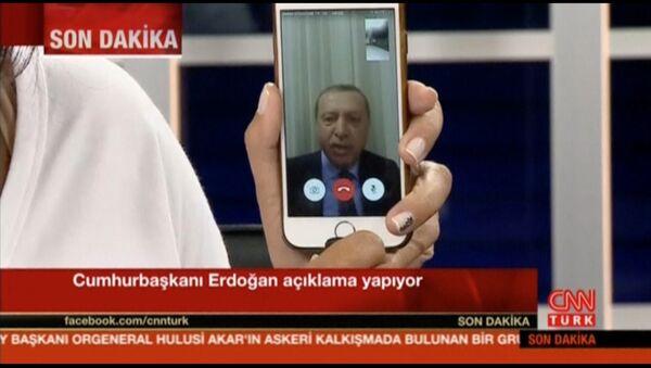 Recep Tayyip Erdoğan/ Darbe girişimi / CNN Türk - Facetime - Sputnik Türkiye