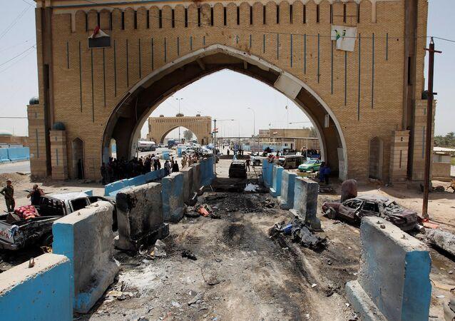 Bağdat'ın kuzeyindeki bir kontrol noktasında meydana gelen patlama.