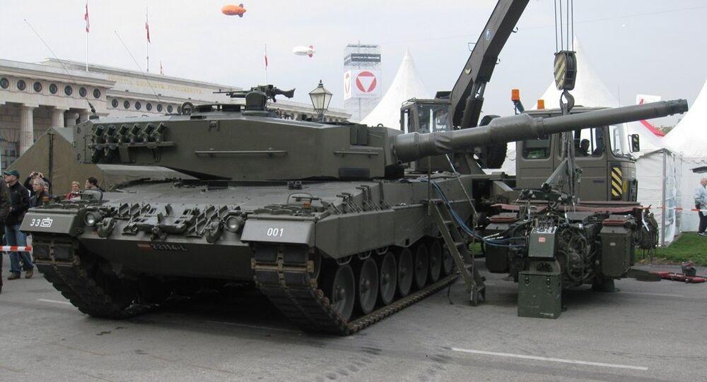 Alman üretimi Leopard 2A4 tipi tank
