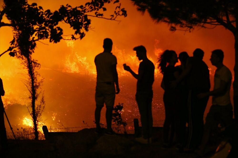 İzmir Buca'da yangın
