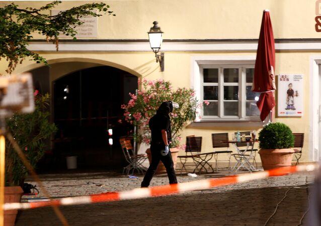 Almanya'nın Bavyera eyaletinin Ansbach kentindeki patlama