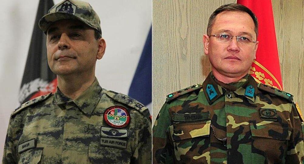 Tümgeneral Mehmet Cahit Bakır ve Tuğgeneral Şener Topuç