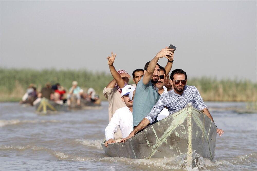 Irak'ta Bataklık Arapları'nın yaşadığı Ahvar bölgesi