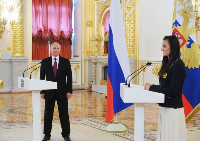 Rusya Devlet Başkanı Vladimir Putin- Yelena İsinbayeva