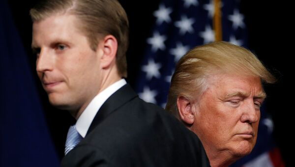 Donald Trump - Eric Trump - Sputnik Türkiye