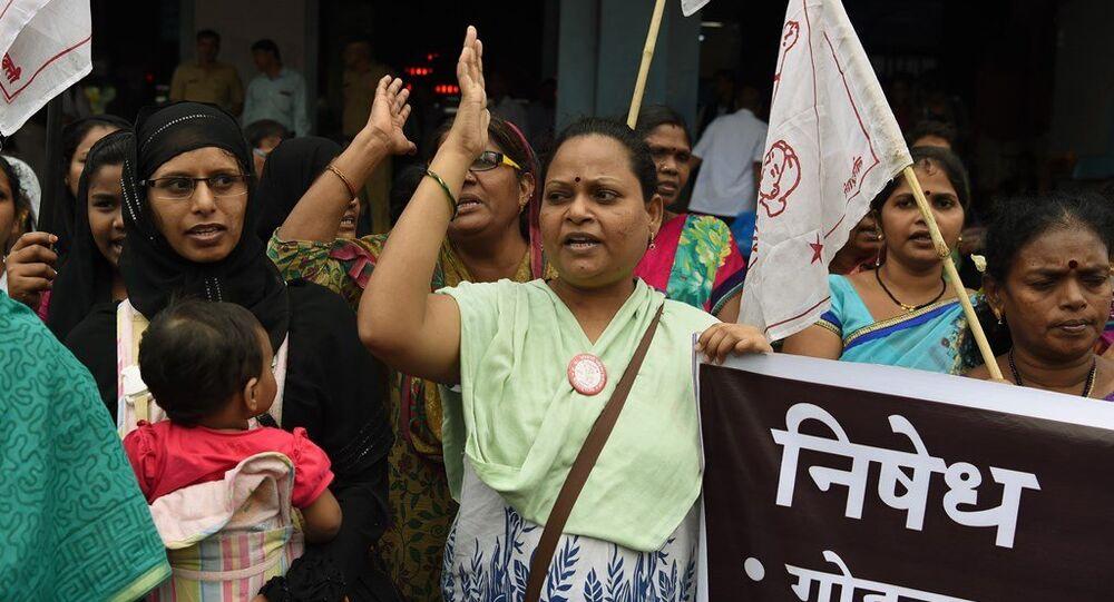 Hindistan'da en alt kasttaki Dalit toplumuna yönelik saldırılar, Mumbai'de protesto edildi.