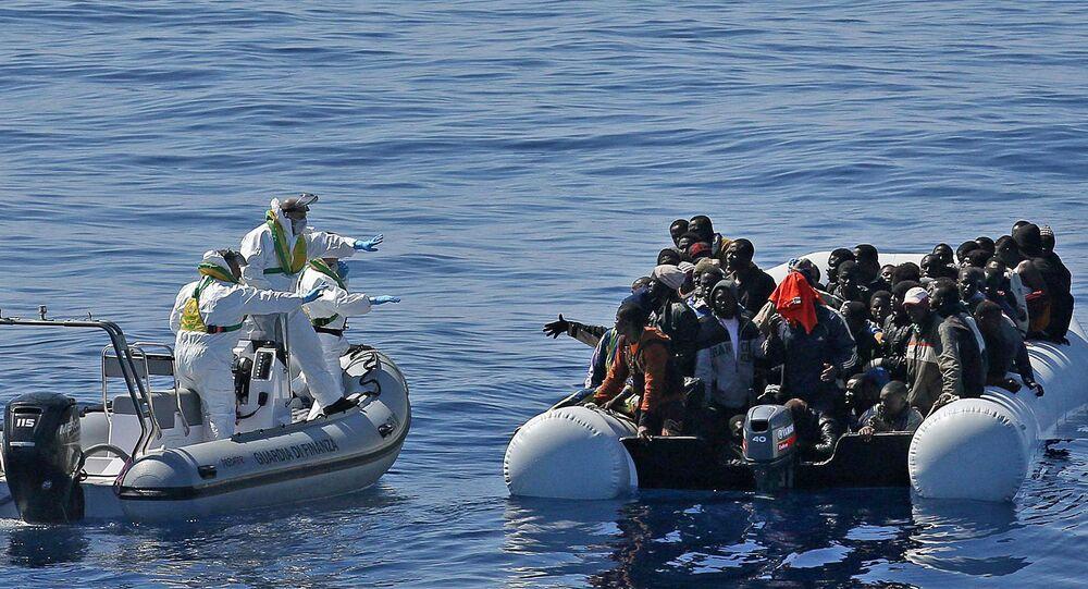 Akdeniz'de kurtarılan sığınmacılar