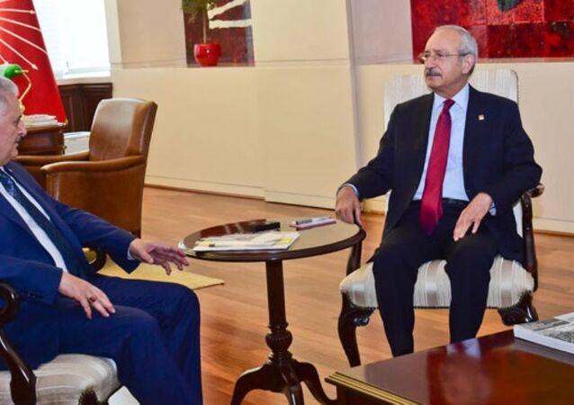 Başbakan Binali Yıldırım, CHP Genel Başkanı Kemal Kılıçdaroğlu'nu CHP Genel Merkezi'nde ziyaret etti.