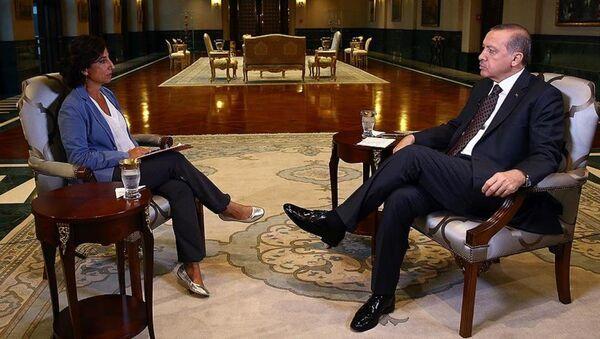 Erdoğan İtalyan televizyonuna konuştu - Sputnik Türkiye
