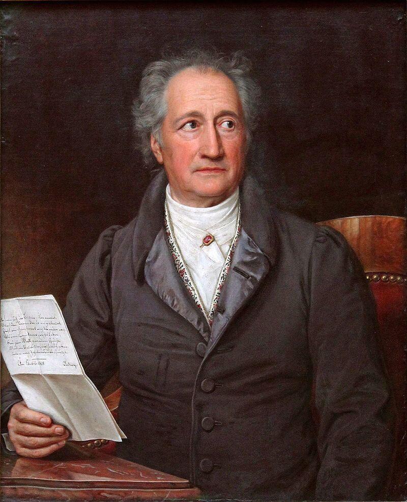 Alman edebiyatçı Johann Goethe