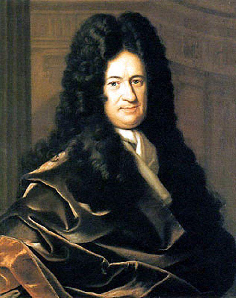 Alman filozof Gottfried Leibniz