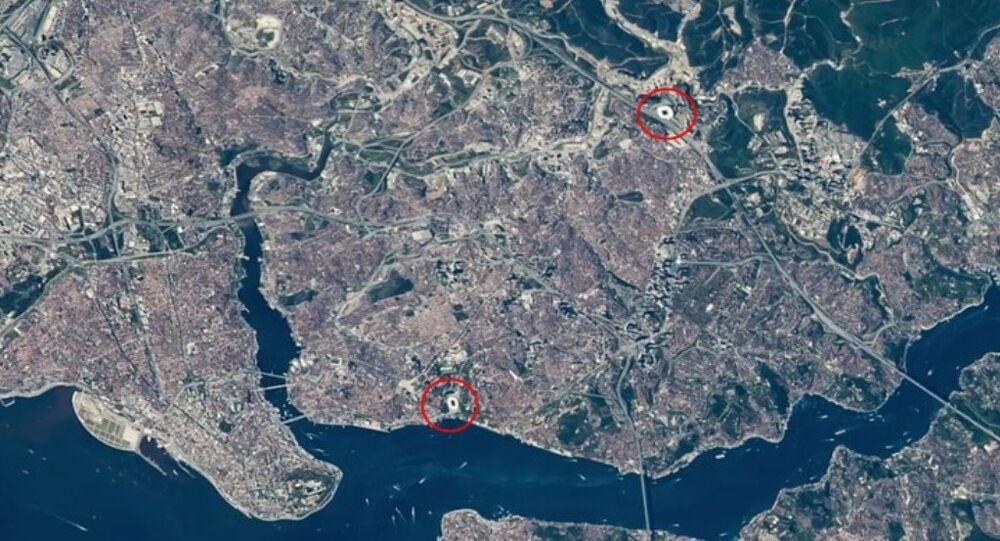 Amerikan Ulusal Havacılık ve Uzay Dairesi (NASA), İstanbul Boğazı'nın uzaydan çekilmiş görüntülerini yayınladı.