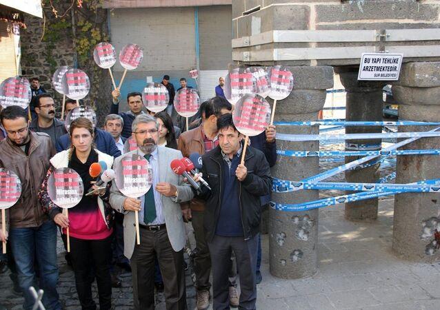 Diyarbakır Barosu Başkanı Tahir Elçi'nin vurulmadan önce yaptığı basın toplantısı