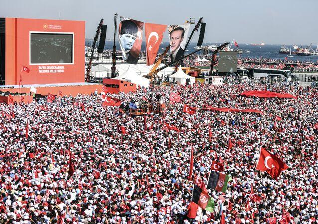 İstanbul Yenikapı'da 'Demokrasi ve Şehitler Mitingi'