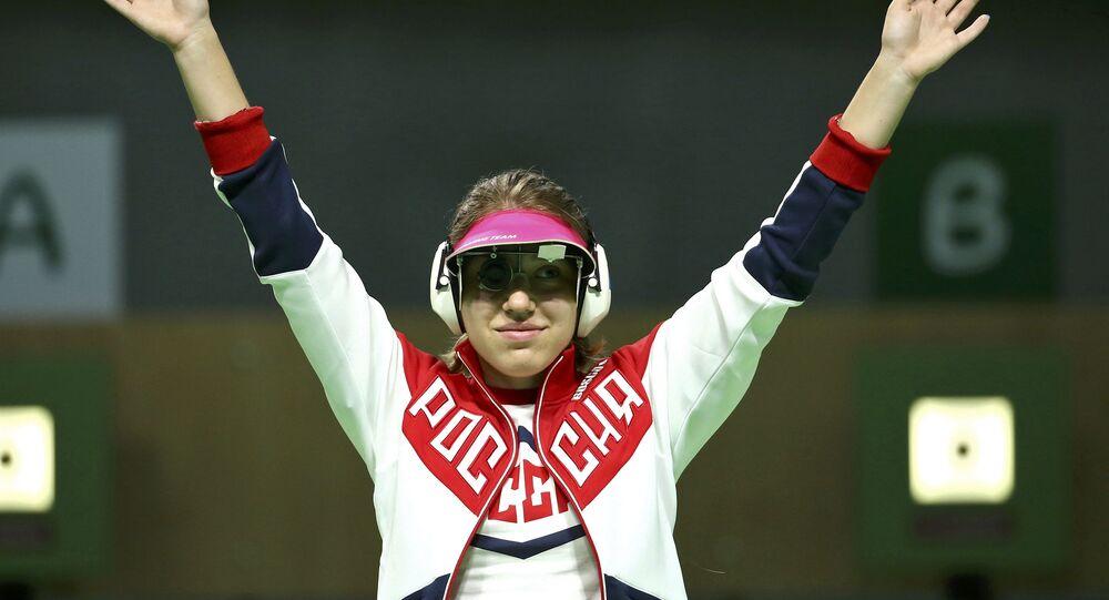Rus sporcu Vitalina Batsaraşkina, Rio Olimpiyat Oyunları'nda 10 metre havalı tabanca dalında gümüş madalyanın sahibi oldu.
