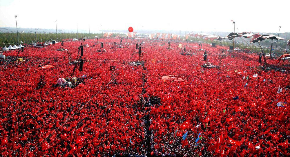 Yenikapı'daki 'Demokrasi ve Şehitler Mitingi'