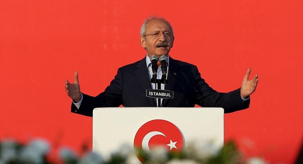 CHP Genel Başkanı Kemal Kılıçdaroğlu Yenikapı'da