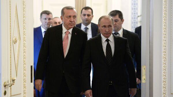 Встреча президентов России и Турции Владимира Путина и Реджепа Тайипа Эрдогана в Санкт-Петербурге - Sputnik Türkiye