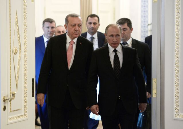Встреча президентов России и Турции Владимира Путина и Реджепа Тайипа Эрдогана в Санкт-Петербурге