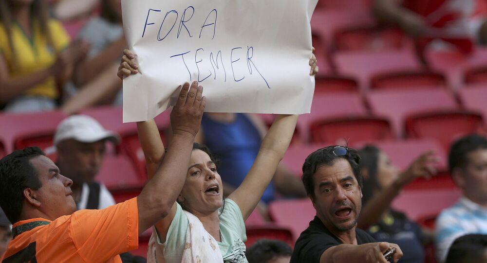 Michel Temer, Rio Olimpiyat Oyunları'nda protesto edildi