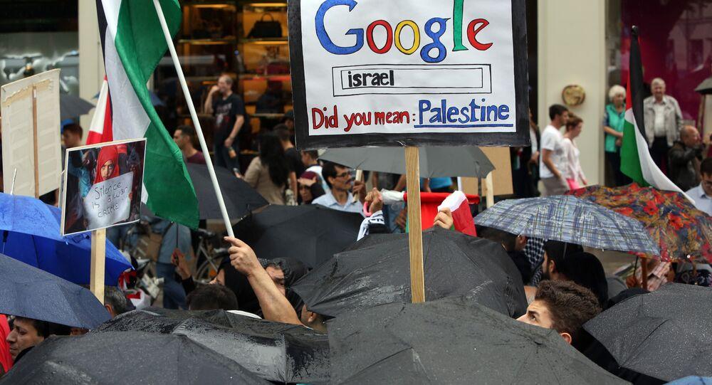 Filistin'i 'tanımayan' Google protesto edildi