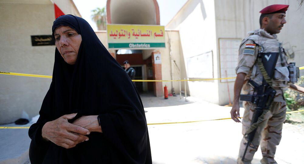 Irak'ta hastanede yangın