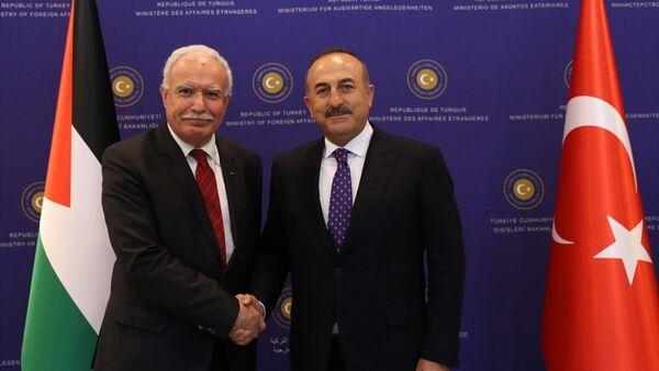 Mevlüt Çavuşoğlu - Riyad el Maliki - Sputnik Türkiye