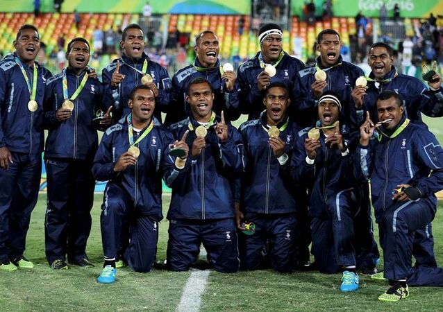 Fiji rugby takımı Rio Olimpiyatları'nda Britanya'yı yenerek altın madalyayı kazandı.