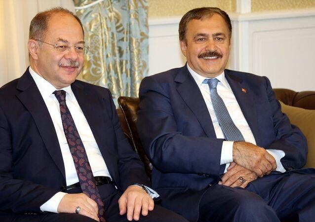 Orman ve Su İşleri Bakanı Veysel Eroğlu ve Sağlık Bakanı Recep Akdağ, Erzurum'da