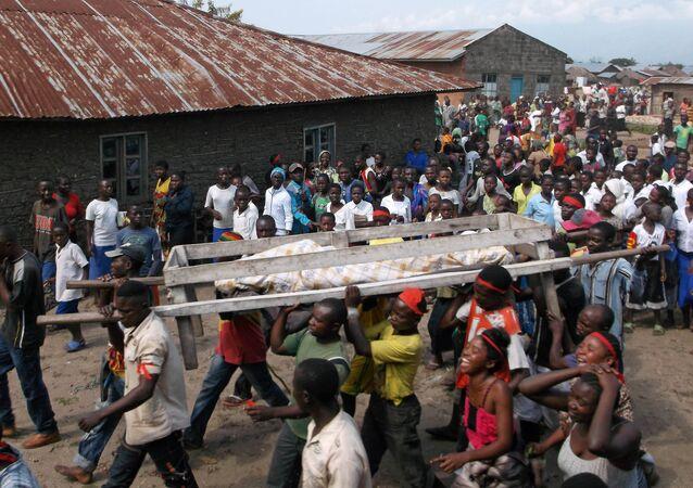 Demokratik Kongo Cumhuriyeti'nde bir cenaze töreni