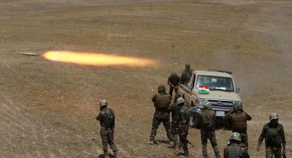 Musul'da IŞİD'e karşı savaşan peşmerge güçleri