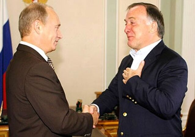 Dick Advocaat ve Vladimir Putin