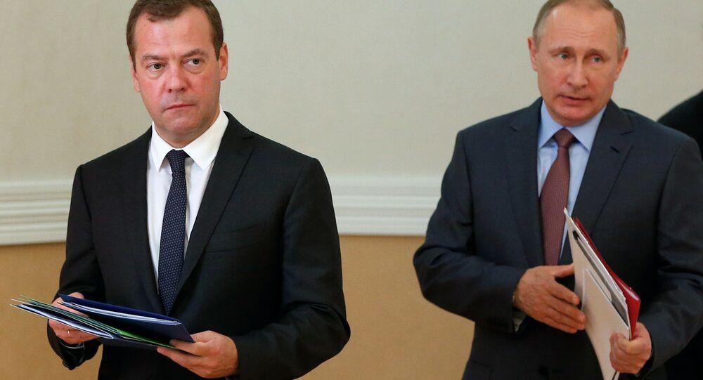 Rusya Başbakanı Dmitriy Medvedev- Rusya Devlet Başkanı Vladimir Putin