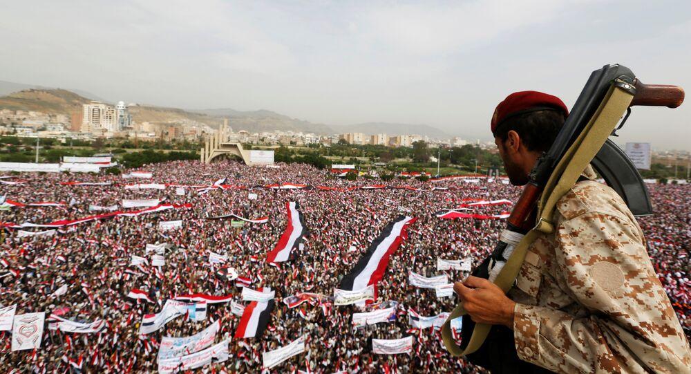 Yemen'de Suudi Arabistan'a karşı dev gösteri